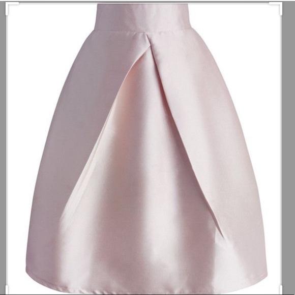 Full soft pink skirt NWOT